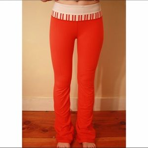 Luluemon Discontinued Red/Orange Yoga Pant.